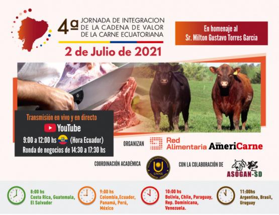 4ta Jornada de Integración de la Cadena de Valor de la Carne Ecuatoriana