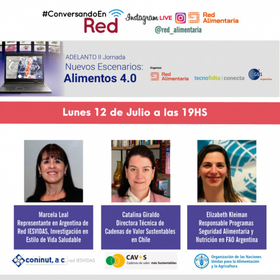 Conversando en Red: Adelanto Jornada Nuevos Escenarios: Alimentos 4.0